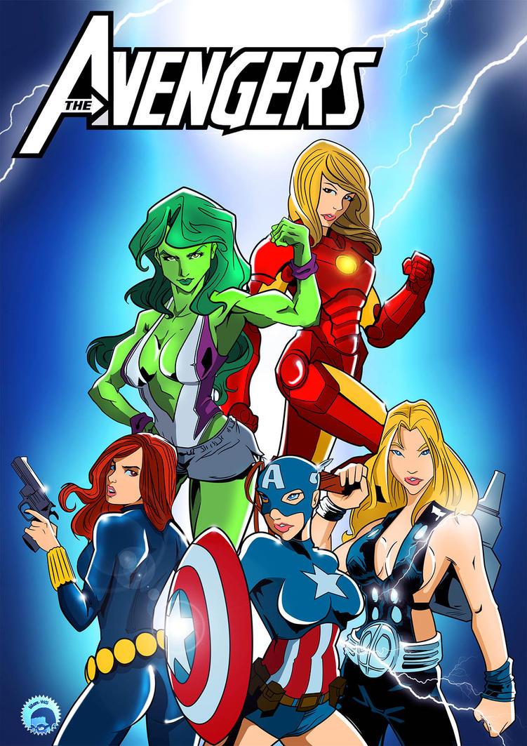 The Female Avengers by titan-415