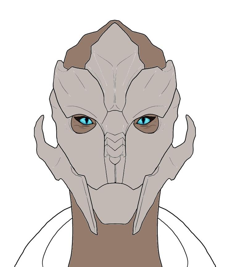 Sergeant Calivea Aetrinus face ref (no face paint) by ORear