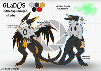 GLaDOS anthro ref by ghxstlly
