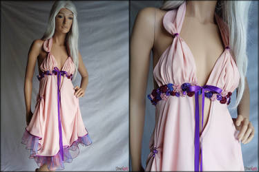 Pink and purple short dress by Umaslady