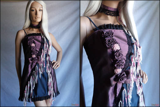 Plum black GOTHIC dress by Umaslady