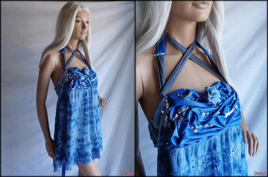 Electric Blue short dress by Umaslady