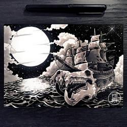 Inktober 2017 - Day 25 - Ship by Py3rr