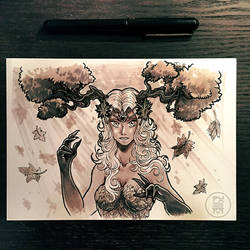 Inktober 2017 - Day 28 - Fall by Py3rr