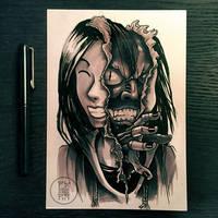 Inktober 2017 - Day 31 - Mask
