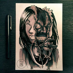 Inktober 2017 - Day 31 - Mask by Py3rr