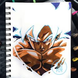 Goku Ultra Instinct Mastered by Py3rr