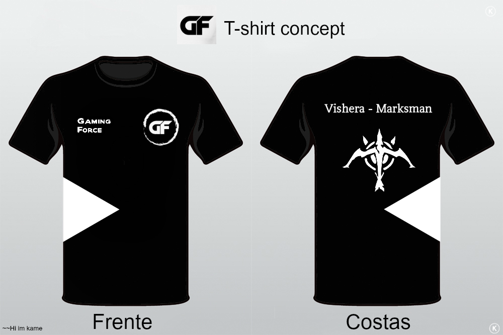 Gaming force e sports team t shirt design by for Team t shirt designs