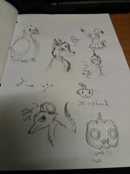 Sketch Dump by PeriOwl