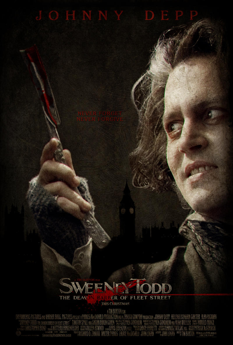 """Sweeney Todd Poster"" by NewRandombell"