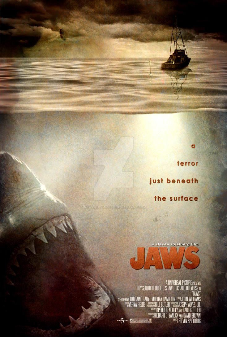 Jaws Movie Poster by NewRandombell on DeviantArt