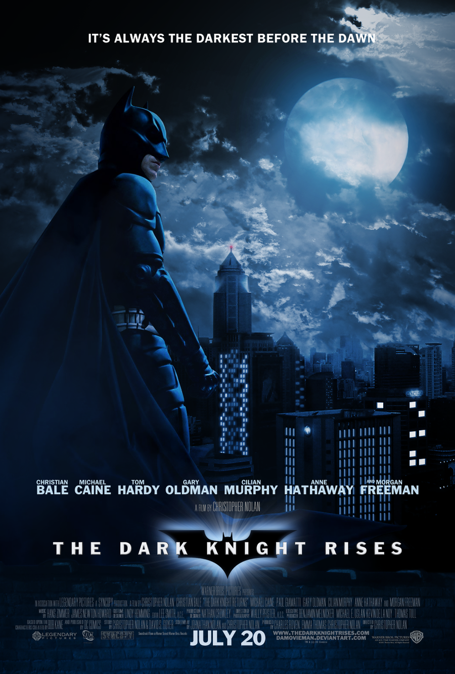 The Dark Knight Rises - Poster by NewRandombell