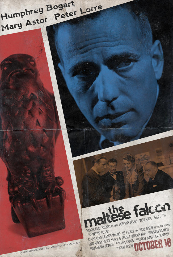 The Maltese Falcon - Poster by NewRandombell