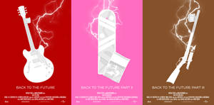 Minimal Posters: Back to the Future Trilogy