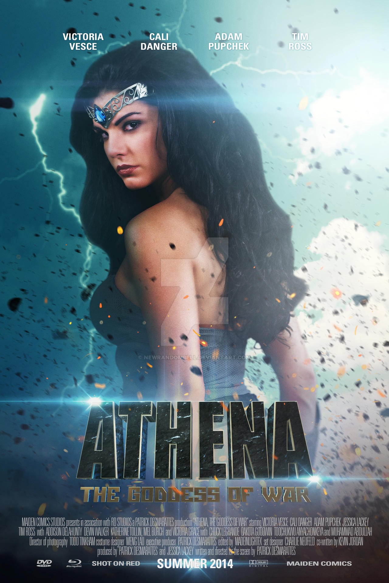 Athena The Goddess of War - Character Poster 2 by NewRandombell