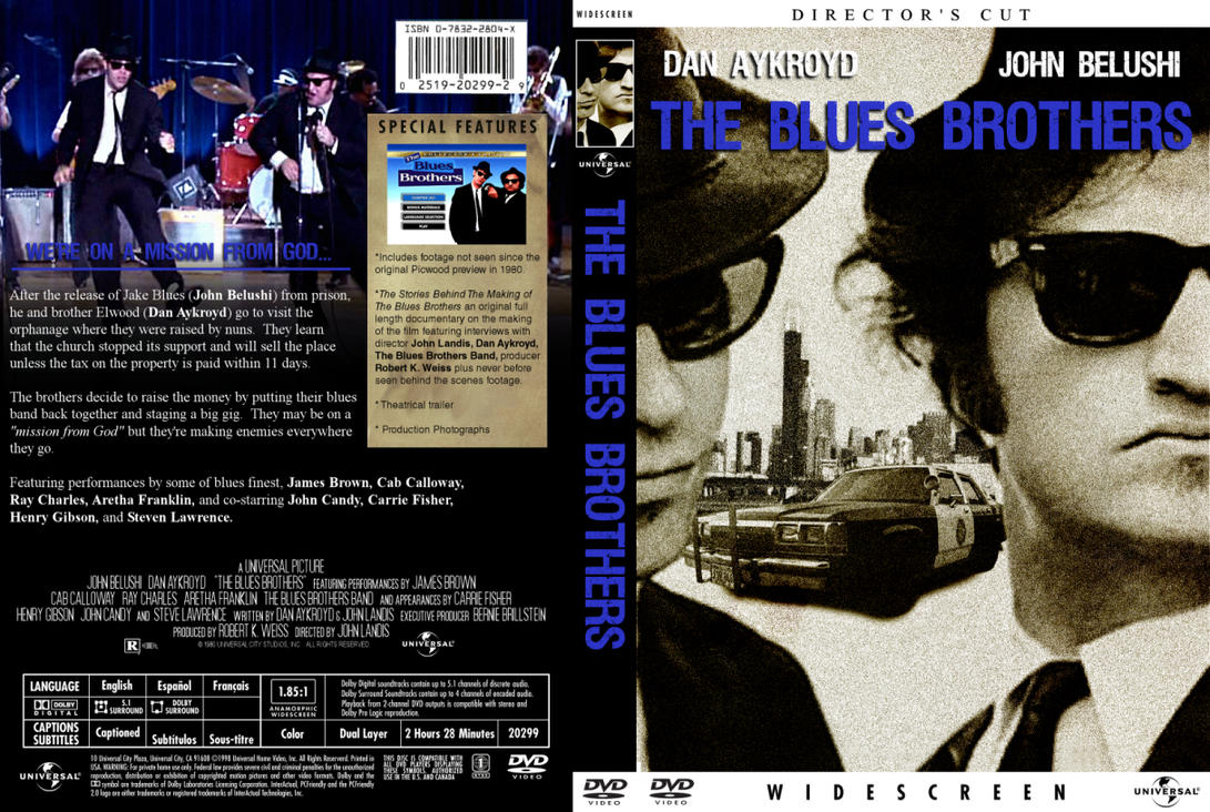 DVD COVERS - The Blue Brothers by NewRandombell on DeviantArt