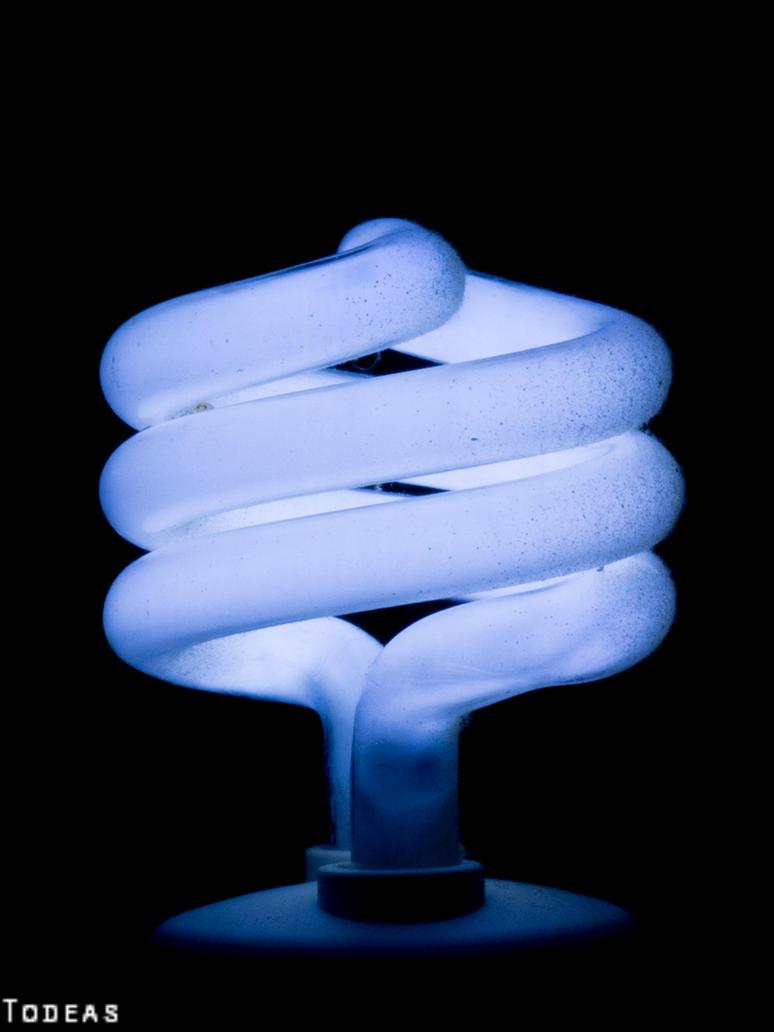 Blue Lightblub by Todeas