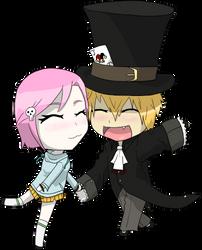 Rose Kurayami and Nicholas Ikari by Skeletonny