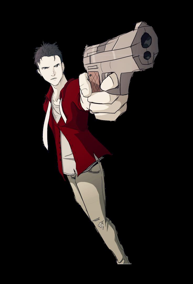 Random Guy Pointing A Gun Doodle by Skeletonny on DeviantArt