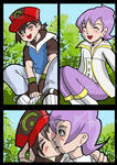 Pokemon Ash and Anabel kiss