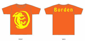 Orange Iguana Shirt Template