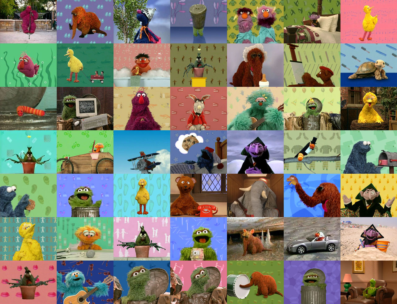 One Character Elmo S World Quiz Ending Collage By