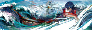 Flying Frigate water