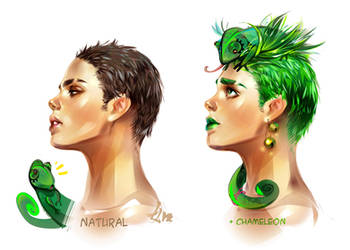 Natural and Chameleon by LimKis