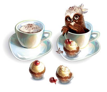 Owl Cappuccino
