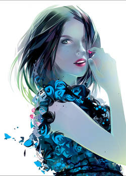blue rose - Fashion girl