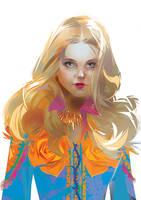 yellow rose - Fashion girl by LimKis