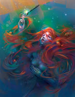 Mermaid and Fish fork by LimKis