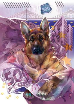 Man's best friend. Germany. 500 euro.