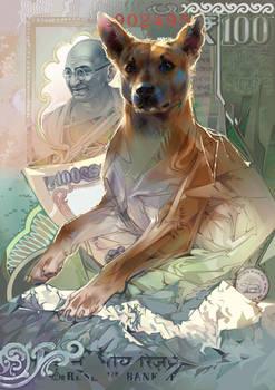 Man's best friend. India. 100 rupees.