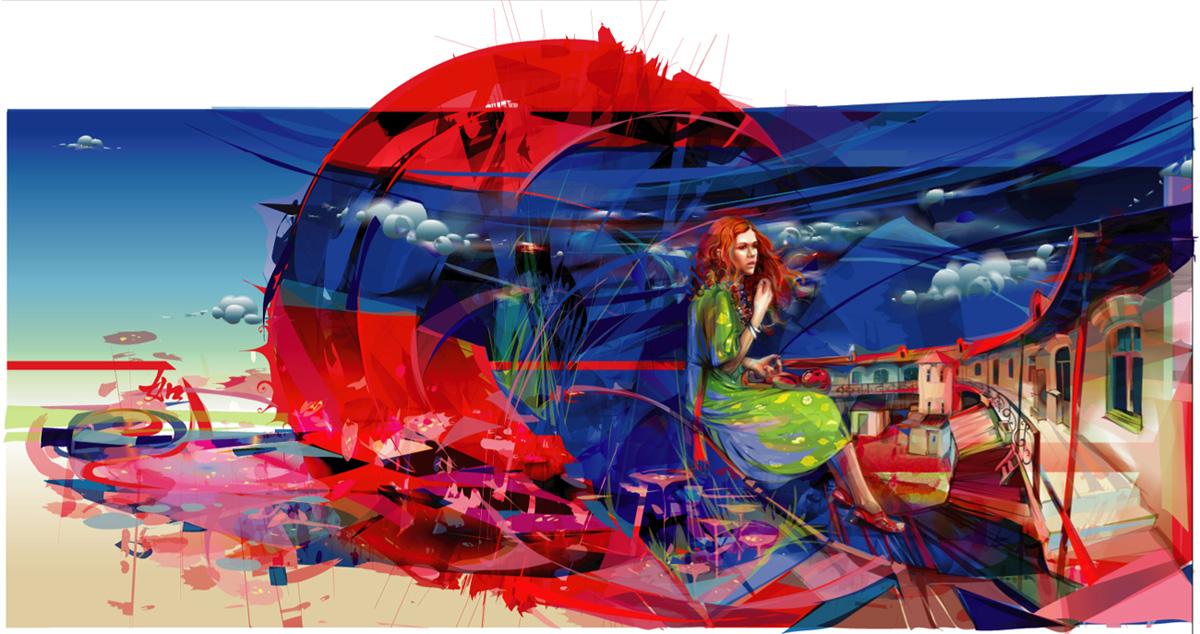 Crimson Sun by LimKis