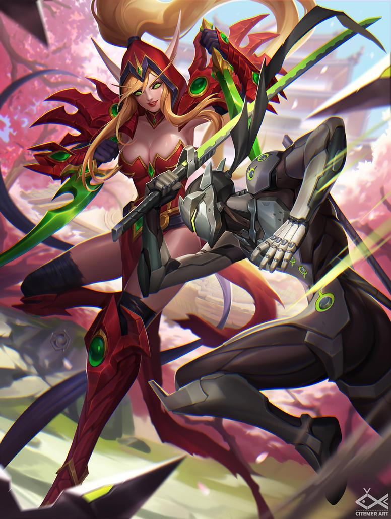 Valeera and Genji by citemer