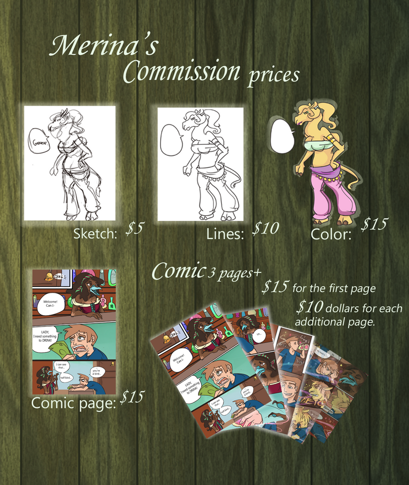 Commission Menu by TheFurMerchant