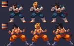 Vegeta and Goku KOF XIII Style