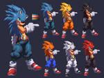 Sonic Hi RES kof XIII style