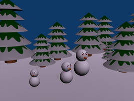 Blender: Simple Winter Scene by lumination
