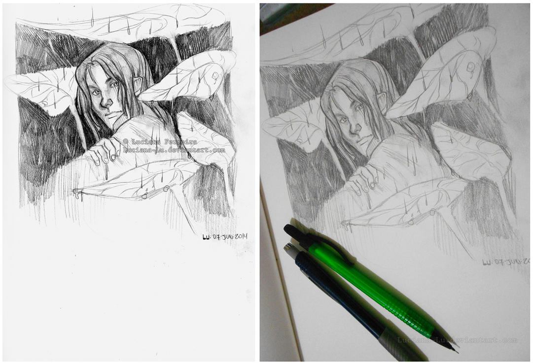 Sketch: Rain by Luciana-Lu