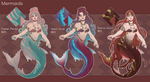 Adopts: Mermaids (OPEN) by Lujordis