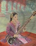 Tahira Sayyad on Sitar