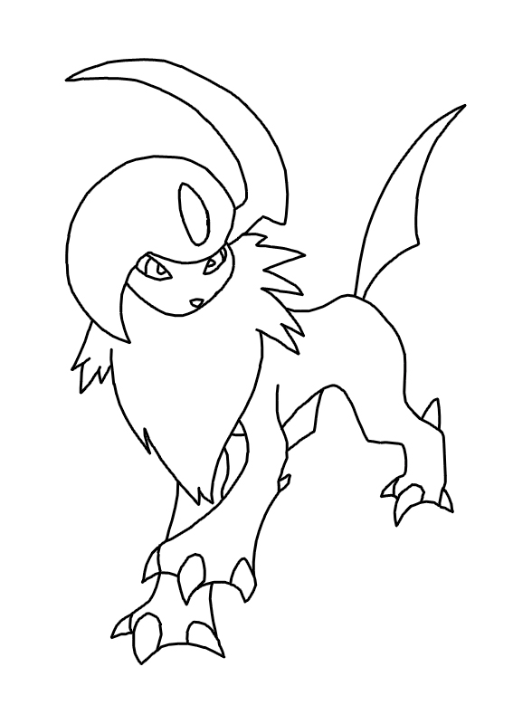 coloring pages absol - photo#4