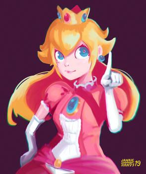Redraw of princess Peach fanart!