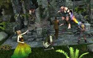 Battle at the Ogre Ruins by AdamTLS