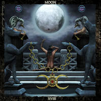 Legacy Tarot - The Moon by AdamTLS