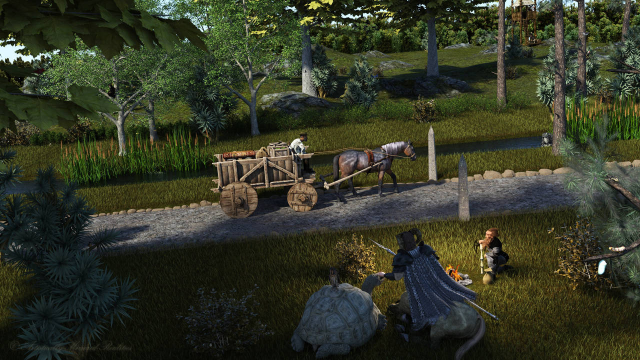 Boring Trip through Fantasy Forest by AdamTLS