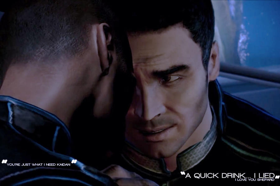 Kaidan x M.Shepard - What A Quick Drink leads to by ManticoreEX