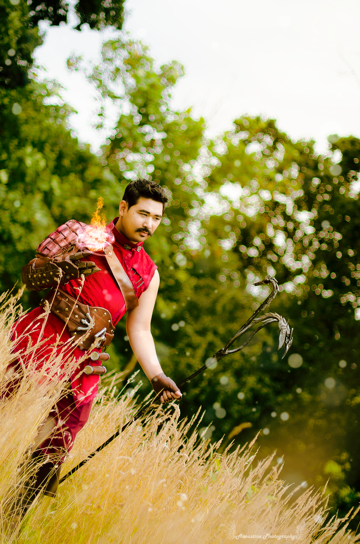 Flames in the Emerald Graves Dorian Pavus Cosplay by ManticoreEX